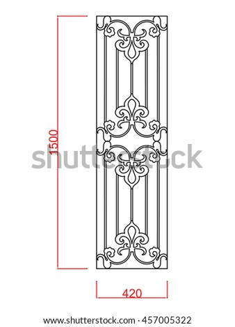 window railing line work with