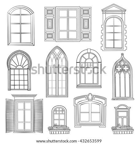 window set. different...