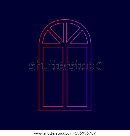 window simple sign vector