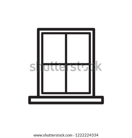 window vector icon in trendy flat design