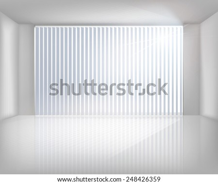 window with blinds vector