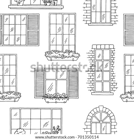 windows graphic black white