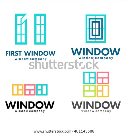 windows logo set  vector