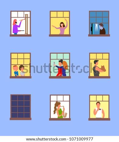 windows with active neighbors