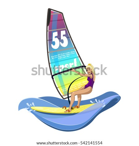 windsurfing water sports on the
