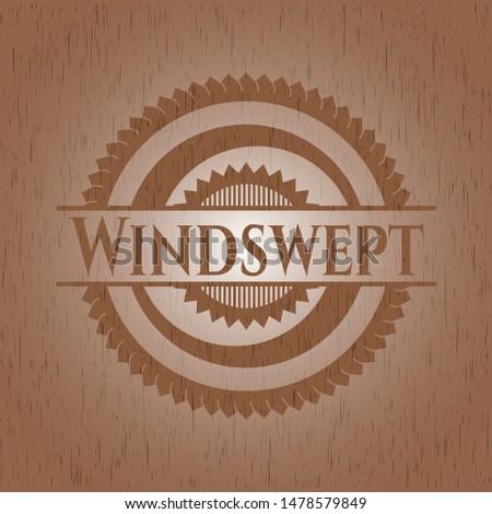 Windswept wood signboards. Vector Illustration.