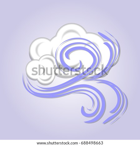 Windy cloud icon. Weather icon. Vector illustration