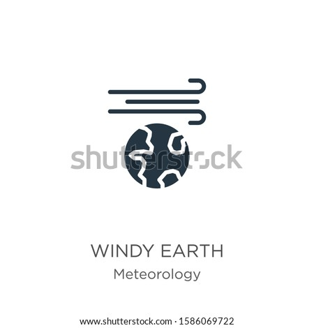Windy earth icon vector. Trendy flat windy earth icon from meteorology collection isolated on white background. Vector illustration can be used for web and mobile graphic design, logo, eps10