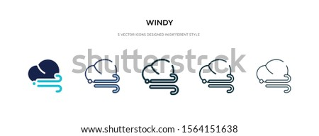 windy icon in different style vector illustration. two colored and black windy vector icons designed in filled, outline, line and stroke style can be used for web, mobile, ui