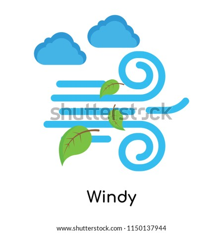 Windy icon vector isolated on white background for your web and mobile app design, Windy logo concept