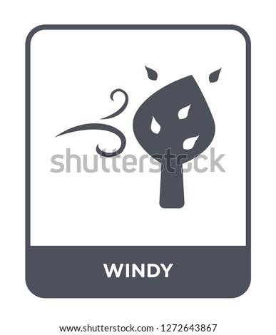 windy icon vector on white background, windy trendy filled icons from Autumn collection, windy simple element illustration