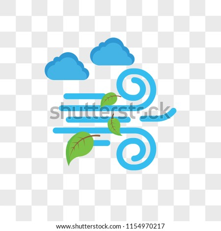 Windy vector icon isolated on transparent background, Windy logo concept