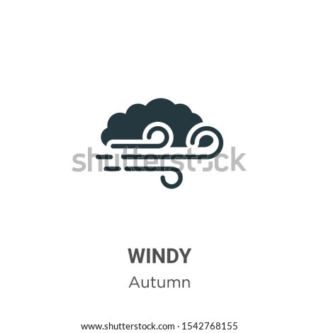 Windy vector icon on white background. Flat vector windy icon symbol sign from modern autumn collection for mobile concept and web apps design.