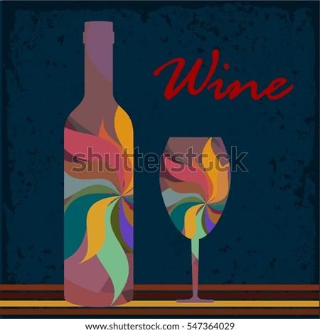 wine background colorful bottle