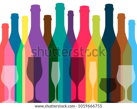 Wine background vector.Bottle of alcohol illustration.Design for wine.Glasses to alcohol.Alcohol vector background.