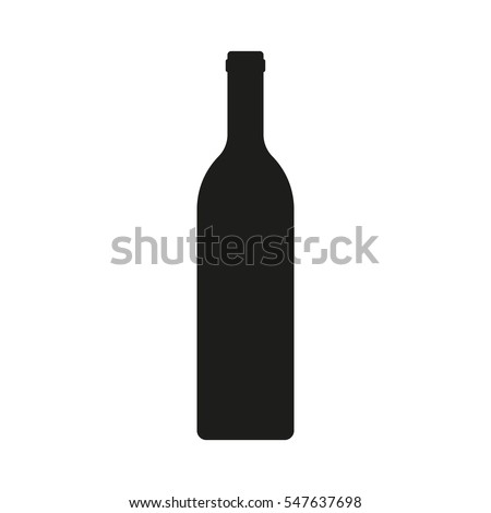 Wine bottle icon isolated on white background. Vector illustration.