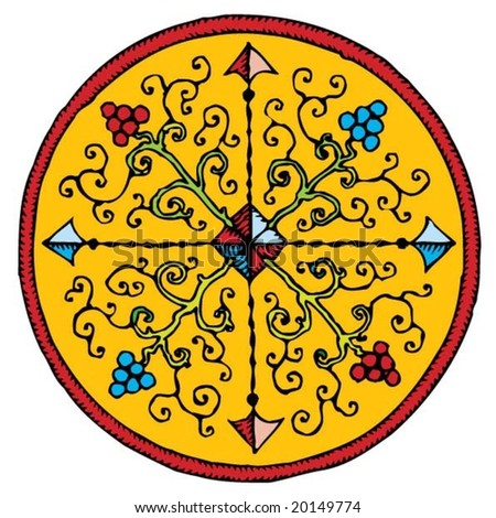 wine compass rosette