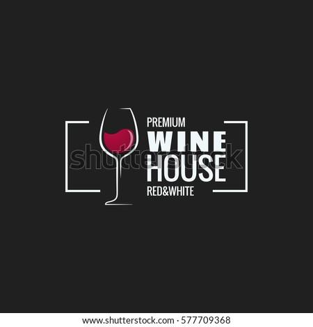 wine glass border design background