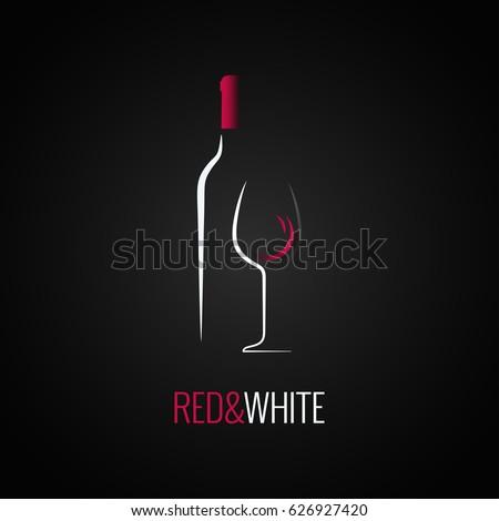 Wine glass. Bottle logo design background