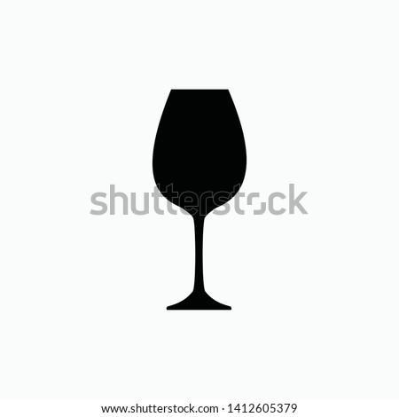 wine glass icon vector illustration isolated ストックフォト ©