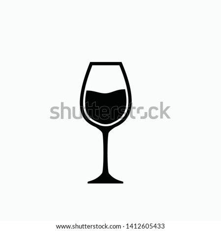 wine glass icon vector illustration isolated