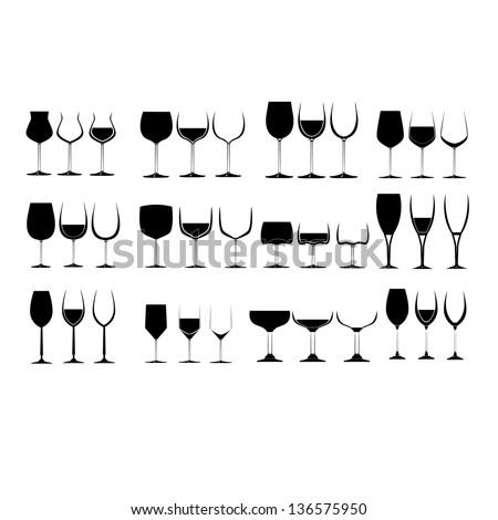 Drinking Wine Silhouette Wine Glass Silhouette