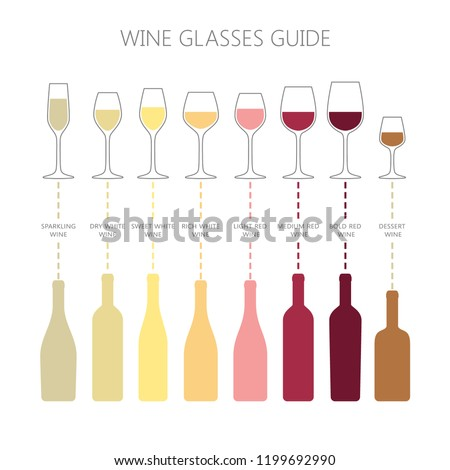 wine glasses and bottles guide
