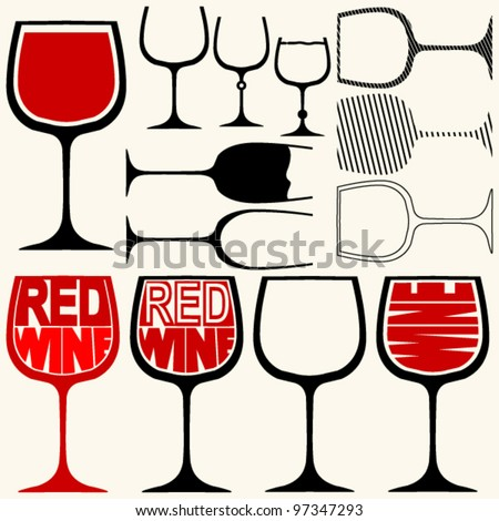 wine glasses silhouettes