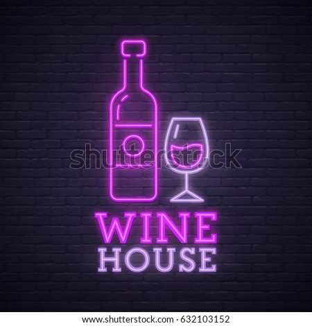 wine house neon sign neon sign