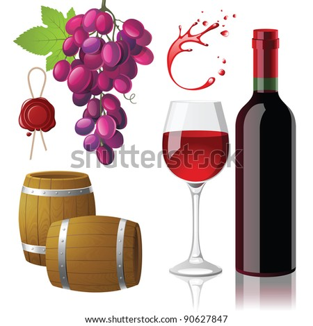 wine icons vector set