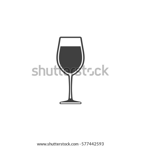 wine in a glass icon isolated