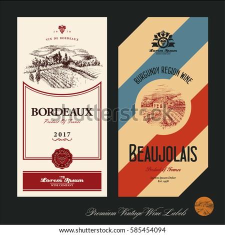 wine labels vineyard