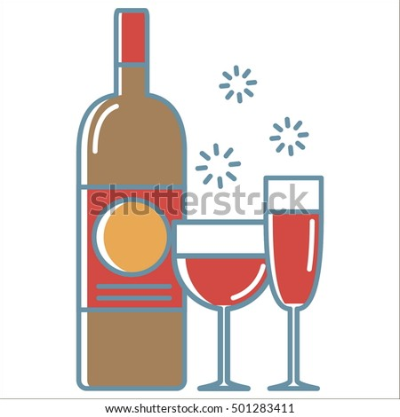 Wine line icon. Thin line vector Wine line icon peefect for web and mobile applications, can be used as logo, pictogram, icon, infographic element. Vector Illustration.