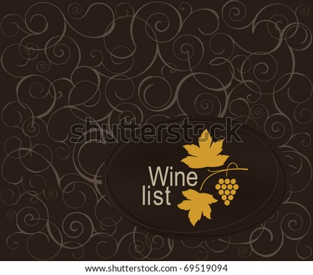 Wine list design for cafe and restaurant
