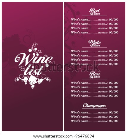 Shutterstock Mobile RoyaltyFree Subscription Photography – Free Wine List Template