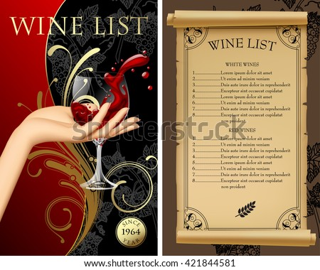 Classic Templates And Wine List - Download Free Vector Art, Stock ...