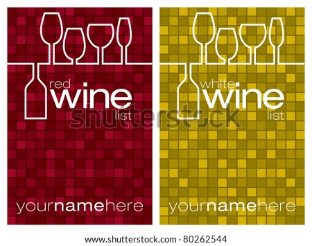 Wine menu in vector format.