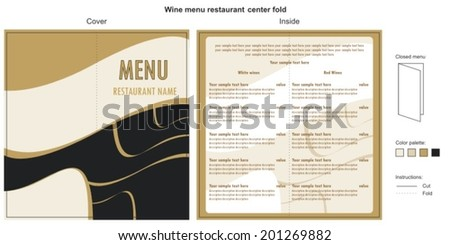 wine menu template