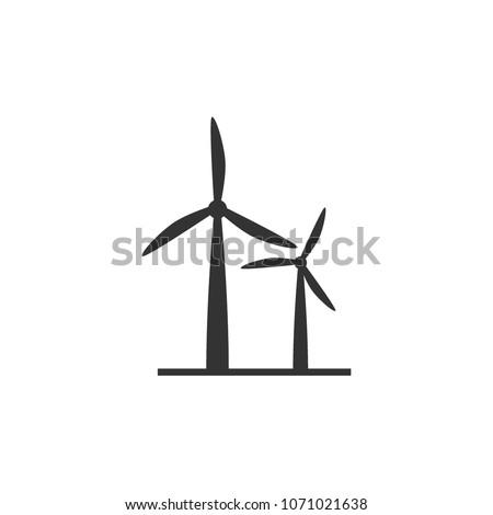 Wine turbine icon showing wind power