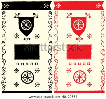 wine web medieval decorations - stock vector