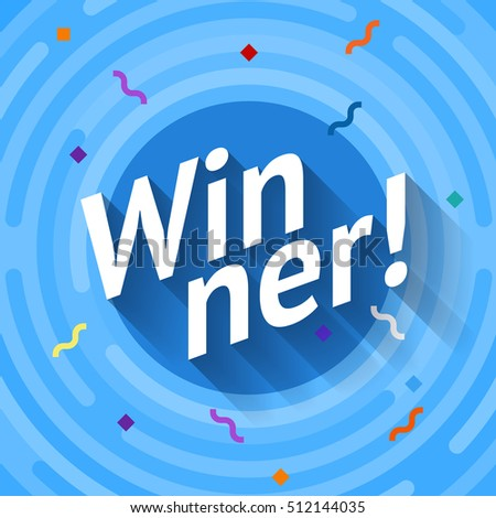winer sign congratulations win