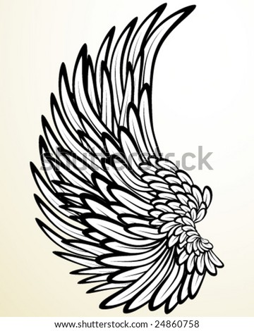 Wing - stock vector