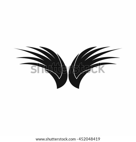 Wing icon in simple style isolated vector illustration