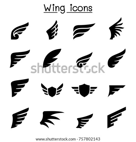 Wing icon set vector illustration graphic design