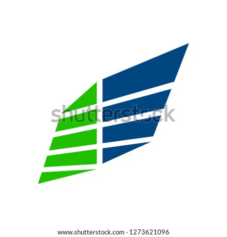 wing panel block business blue