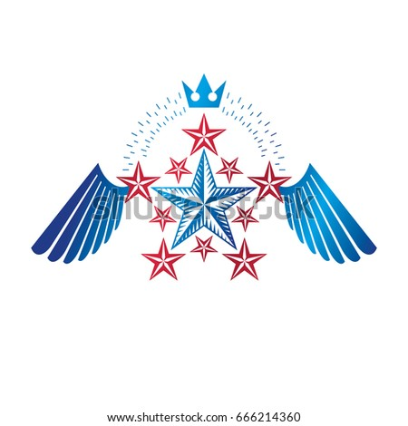 winged ancient star emblem