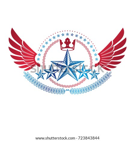 winged ancient star emblem