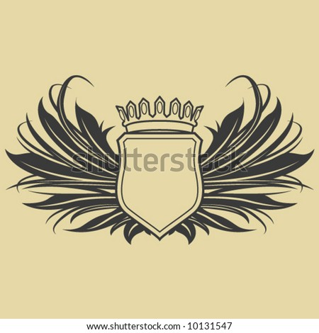 Winged Crest - stock vector
