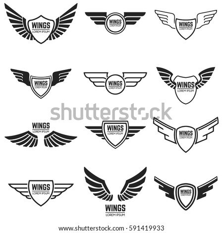 winged emblems  frames  icons