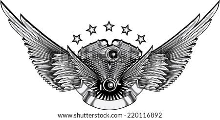 winged engine emblem